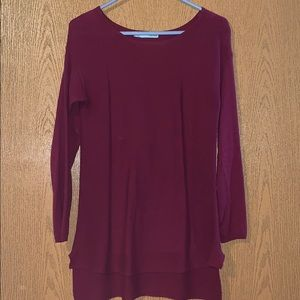 High-Low maroon sweater